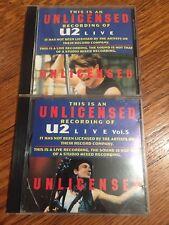 U2 - Unlicenced Recording Of U2 Live - Vol 1 & Vol 4 - RARE. 2 CD lot.