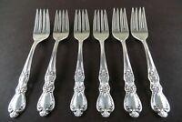 Heritage Set of 6 Salad Forks 1847 Rogers Silverplate Flatware Mint