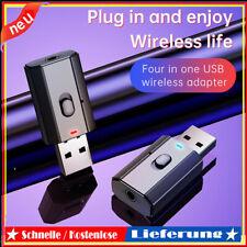 Bluetooth 5.0 HiFi-Audioempfänger Sender USB AUX-Buchse Drahtloser Musikadapter