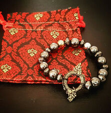 Leklai Naga Phayanak Bracelet Beads Ouroboros Gemstone Talisman Thai Amulet