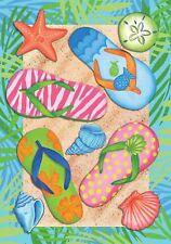"New listing Spring Summer Beach Pool Flip Flops Mini Flag ""Tropical Flip Flops"""