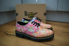 Dr Martens Smiths Daze Multi Three Eye Shoes Floral New UK 4 EU 37 US 6 RARE