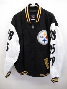 Vintage Pittsburgh Steelers NFL Super Bowl Champions Jacket Size Mens XL EUC
