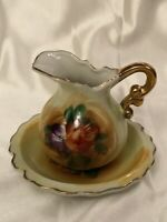 Small Hand painted Vintage Pitcher And Plate Made In Japan - Brinn's Of Phila.