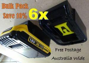 6x DeWalt 18v Battery Holder / Mount / Storage / Bulk Pack - SAVE 10%