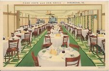 Park Cafe and Sea Grill Burlington Vermont VT Roadside Postcard