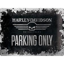 Harley Davidson Skull Parking Sign Motorcycle Vintage Sign Poster 643
