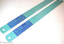 "2 NOS Eclipse UK HSS Steel 4TPI  16"" x 1-1/2"" x .075"" POWER HACKSAW BLADE AE461T"