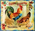 Riverside Royal Rooster Brand Chickens Orange Citrus Fruit Crate Label Art Print