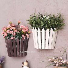 Wall Mounted Hanging Plant pot wood Flower Planter Pot Rack Vintage Style
