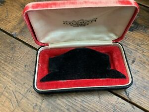 Antique Vintage Red & Black Velvet Gotham Watches or Jewelry Presentation Box
