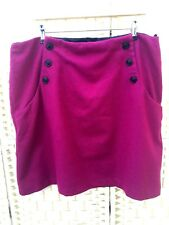 Laura Ashley Uk size 18 Pink wool blend mini short skirt fully lined