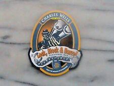 Wells Lock, Stock & Barrel real ale beer pump clip sign