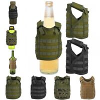 Mini Tactic Military Bottle Molle Vest for Soda Beer Can Beverage Cover Decor
