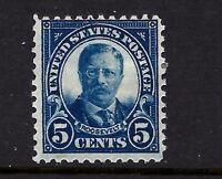 US #557 Mint-OG-LH 1923 5c Flat Press ~ Perf 11X11....Rich Color...Ships Free!