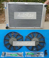 Aluminum Radiator+ 2 Fans for Holden Commodore VG VL VN VP VR VS V8 AT MT 3 Row