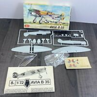 Vintage KP Plastikovy Model AVIA B.35 1/72 Scale Model Kit Rare