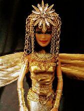 Golden Isis Egyptian Goddess Egypt Beautiful Gold  Ooak barbie Doll