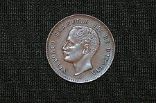 Italy 2 Centesimi Bronze Coin 1903 R, Very Nice