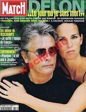 Paris Match n°2676 du 07/09/2000 Alain Delon Deschamps Beigbeder Koursk Jolo