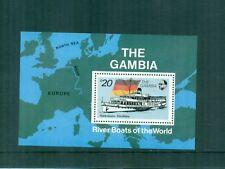 Gambia 1992 Riverboat Rudesheim Rhine River Mini Sheet  MNH Sc 1264, SG MS1340b
