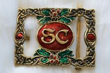 HRSC Santa Billy's Exclusive Santa Claus Solid Bronze Buckle for 4 in Belt