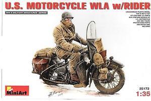 MiniArt US Motorcycle WLA w/Rider 1/35 172 ST