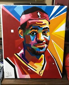 """Lebron James Oil Painting on Canvass 20"""" x 24"""" #LJ02"""
