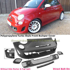 For 12-17 Fiat 500C 500 Turbo Abarth Style Front Bumper Cover Kit W/O PDC