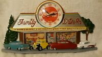 Vintage Coca Cola Family Drive In Diner Wall Clock 1988