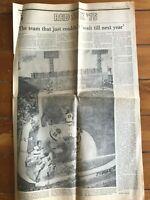 1975 Boston Red Sox Boston Globe B Section Newspaper~8 Pgs~Playoffs/World Series