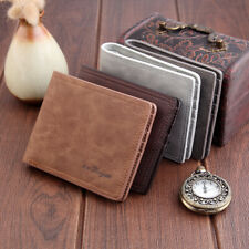 PU Leather Handmade Men Wallets,#067 Light coffee