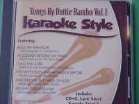 Songs by Dottie Rambo Volume #1  Christian  Daywind  Karaoke Style CD+G  Karaoke