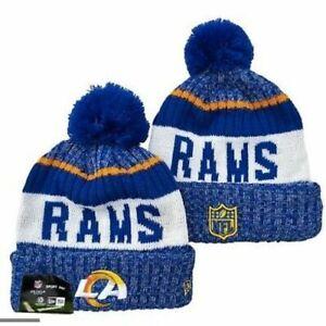 NEW ERA NFL Los Angeles Rams On field Sideline Beanie Winter Pom Knit Cap Hat