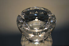 Swarovski Silver Crystal Ashtray 7461 Nr 100 Rare Signed New In Box with Papers