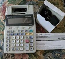 Sharp El-1750 Portable 12-Digit 2-Color Serial Printing Calculator