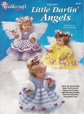 Little Darlin' Angels Crochet Booties Ruffled Dresses Syndee Dolls Panties Halos