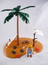 PLAYMOBIL VINTAGE 3861 PIRATES CASTAWAY ISLAND-COLLECTOR-COMPLETE-EXCELLENT!!!