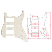 3 Ply Yellow Pearl Guitar Pickguard For Fender Strat ST replacement HSH Pickup
