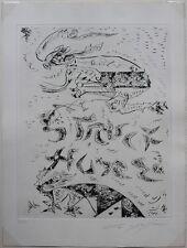 """André MASSON """"STRUCT-HURE"""" Pointe sèche originale signée et numérotée 11/130"""