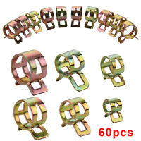 60Pc Fuel Line Hose Spring Clip Water Pipe Air Tube Clamp 6/9/10/12/14/15mm Kits