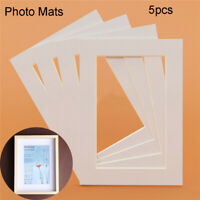 5PCS Photo Mats Rectangle Paper Mounts Unique Textured Surface Picture Frames-