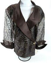 NEW 22W $89.99 Embroidered Dressbarn Evening Sequin Dress Jacket Satin NWT