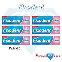 6 x Fixodent Cream Complete Strong Hold Adhesive Denture Cream Original 47g