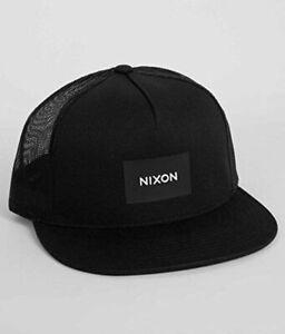 NIXON TEAM TRUCKER HAT BLACK SNAPBACK CAP