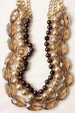 Pearl Statement Necklace New & Signed Stella & Dot Della Multi Strands Faux