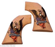 Custom Ruger American Tattoo Grips OLD Model Vaquero Blackhawk XR3-RED Revolvers