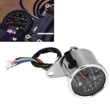65 mm Black LED Mechanical Motorcycle Speedometer Odometer Gauge with Indicator