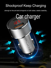 Dual Ports USB+Type-C PD Auto Cars Charger Adapter 3A Quick Charging In-Car Plug