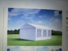 MARQUEE 20FT X 20FT SQUARE complete with side walls, guy ropes, straps